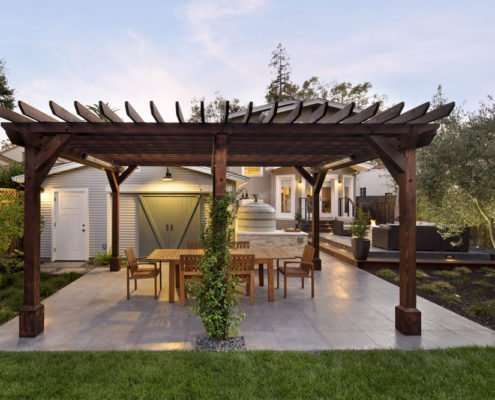 gazebo with dining table
