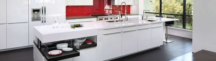 red and white kitchen remodel