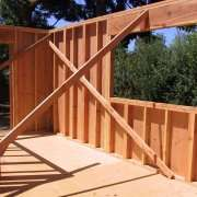 Wooden frame construction
